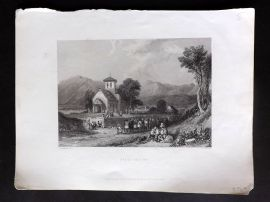 Bartlett Switzerland C1838 Antique Print. Filli - Savoy